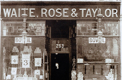Waite, Rose and Taylor shop